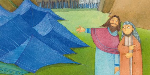 Abraham, der Gesegnete,© Scheffler, Herders Kinderbibel, Verlag Herder GmbH