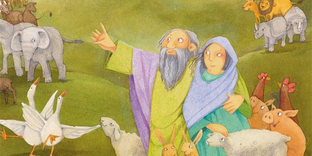 Noah, der Gesegnete,© Scheffler, Herders Kinderbibel, Verlag Herder GmbH