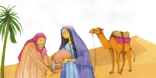 Rebekka, die Gesegnete,© Scheffler, Herders Kinderbibel, Verlag Herder GmbH